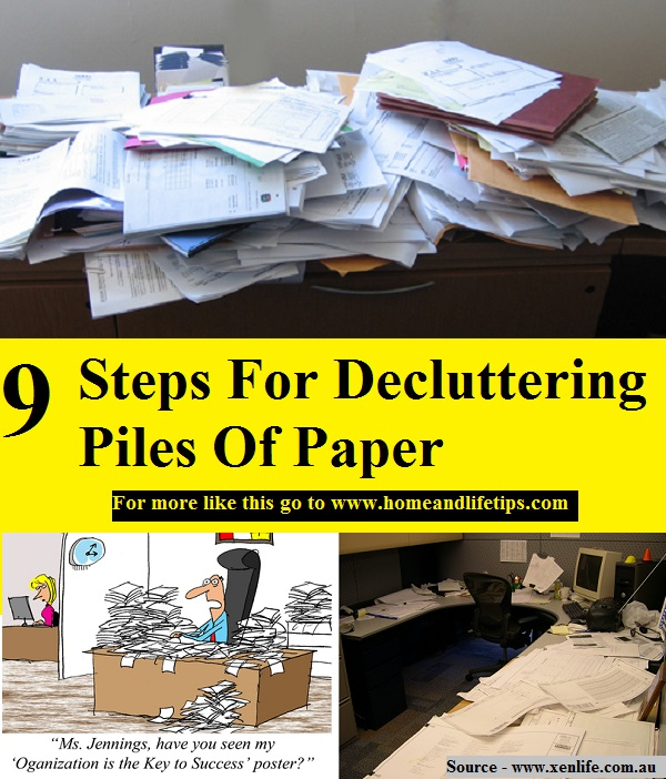 9 Steps For Decluttering Piles Of Paper