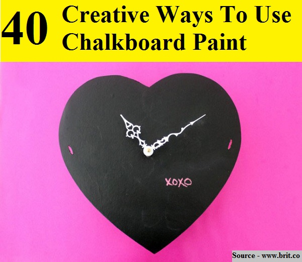 40 Creative Ways To Use Chalkboard Paint