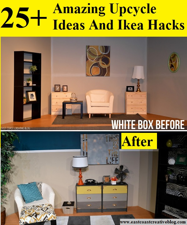 25+ Amazing Upcycle Ideas And Ikea Hacks