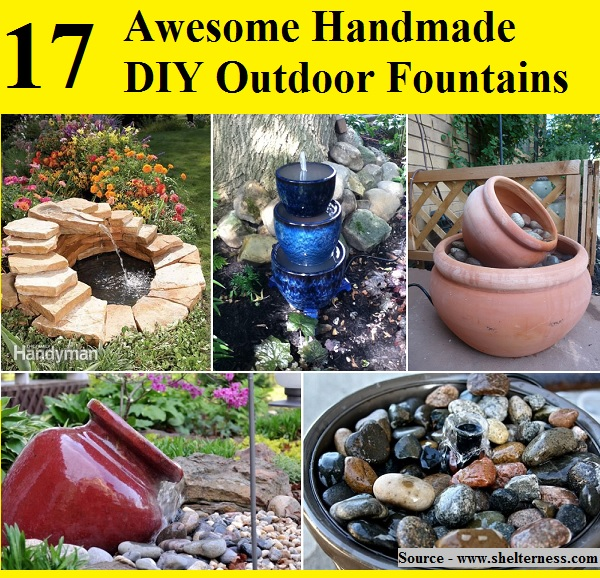 17 Awesome Handmade DIY Outdoor Fountains
