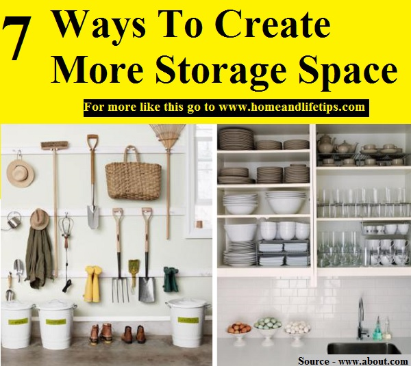 7 ways to create more storage space home and life tips - Ways of creating more storage space in your home ...
