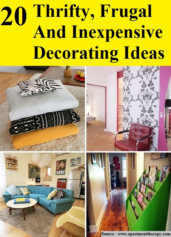 20 Thrifty Frugal And Inexpensive Decorating Ideas