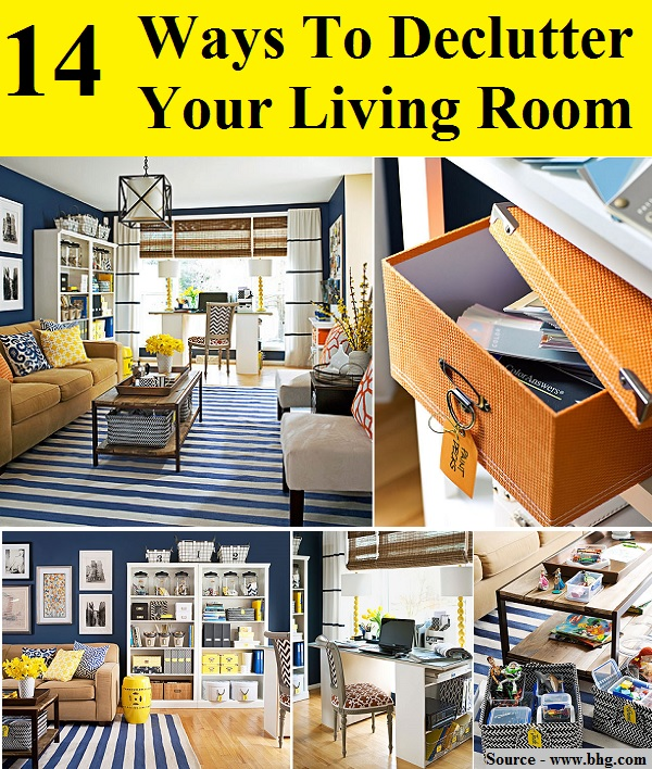 14 Ways To Declutter Your Living Room Home And Life Tips