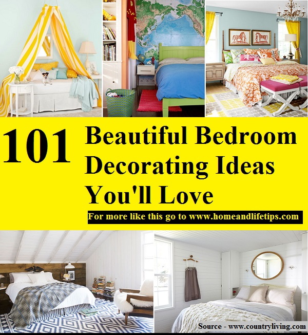 101 beautiful bedroom decorating ideas you 39 ll love home for Home decor 101