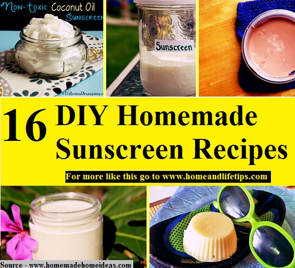 16 DIY Homemade Sunscreen Recipes