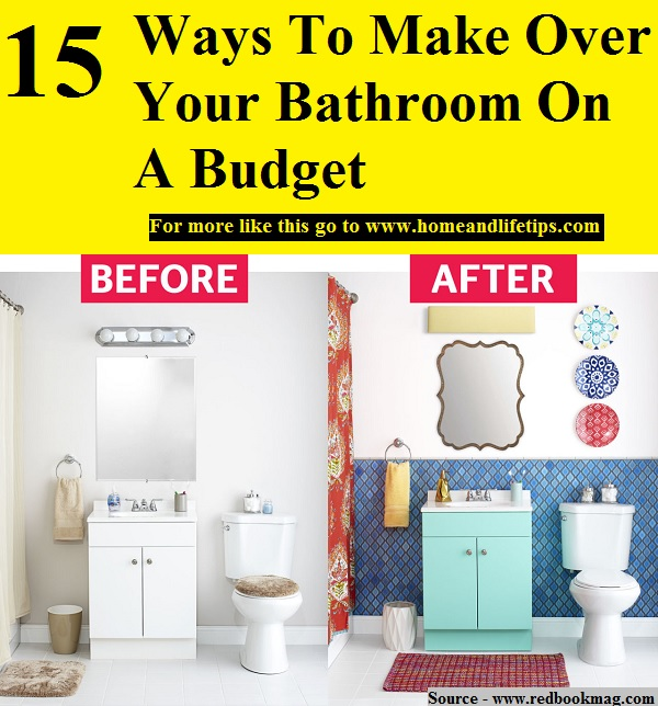 15 ways to make over your bathroom on a budget home and for Tips for building a house on a budget