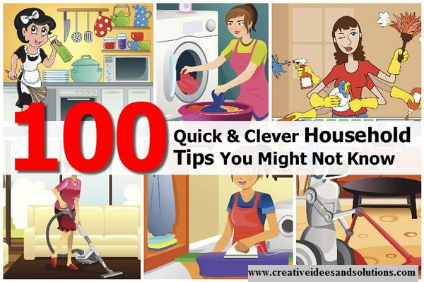 100 Quick And Clever Household Tips You Might Not Know