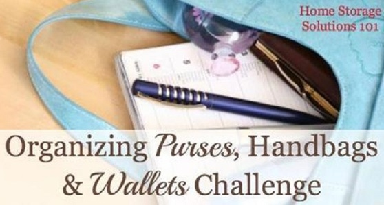 Organizing Purses, Handbags and Wallets