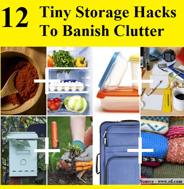 12 Tiny Storage Hacks to Banish Clutter
