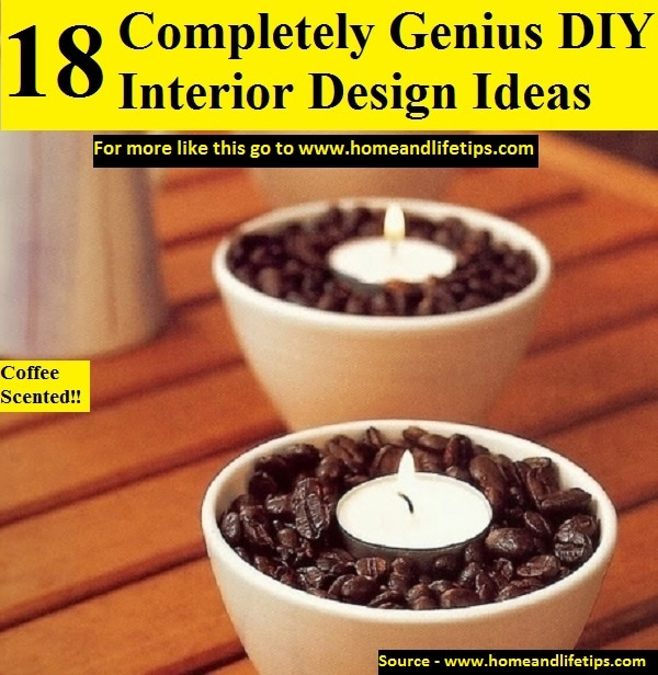 18 Completely Genius DIY Interior Design Ideas