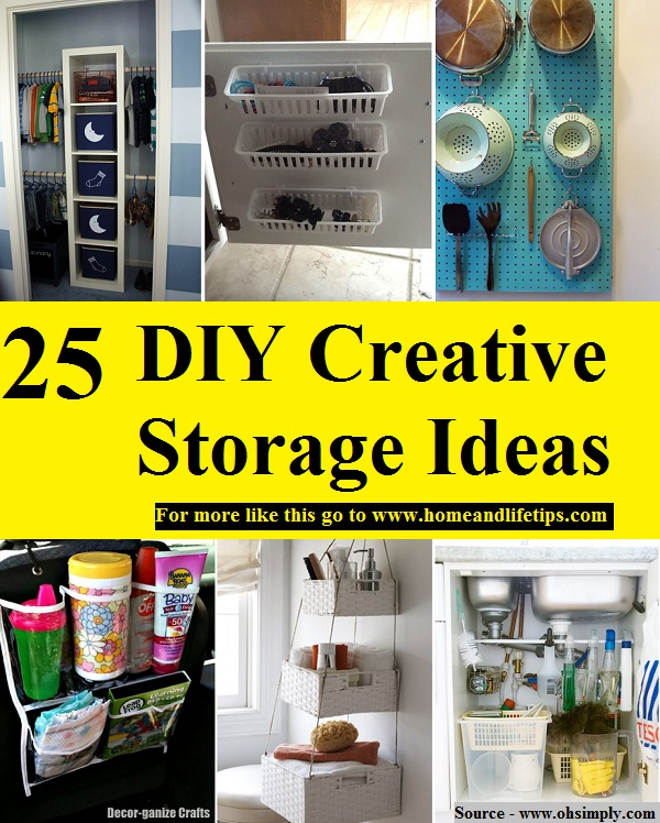 25 DIY Creative Storage Ideas