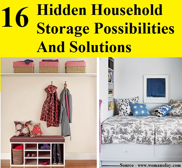 16 Hidden Household Storage Possibilities And Solutions