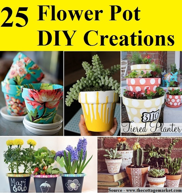 25 Flower Pot DIY Creations