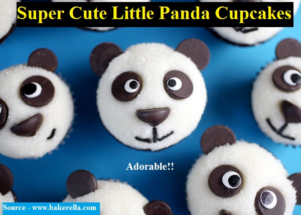 Super Cute Little Panda Cupcakes