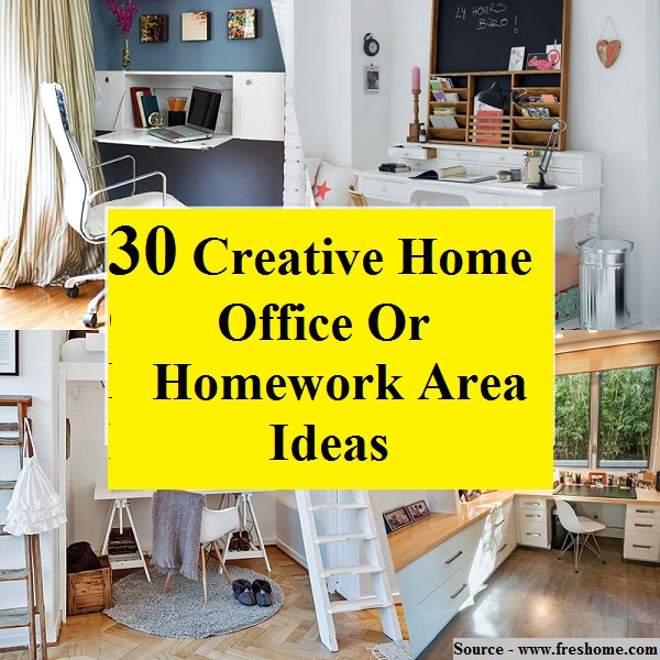 30 Creative Home Office Or Homework Area Ideas Home And