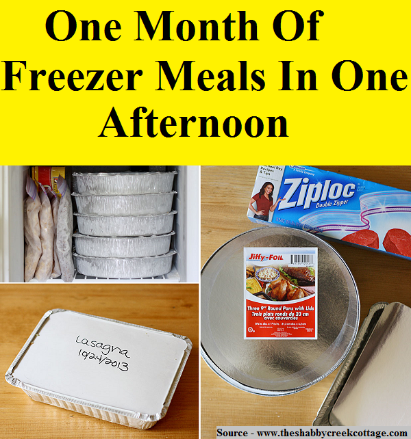 One Month Of Freezer Meals In One Afternoon