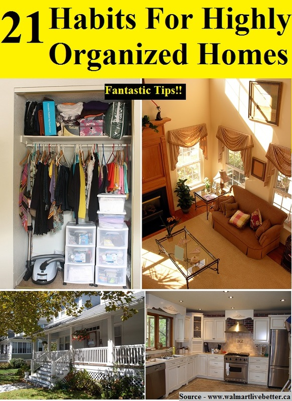 21 Habits For Highly Organized Homes