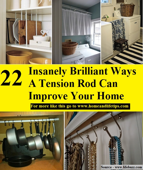 22 Insanely Brilliant Ways A Tension Rod Can Improve Your Home
