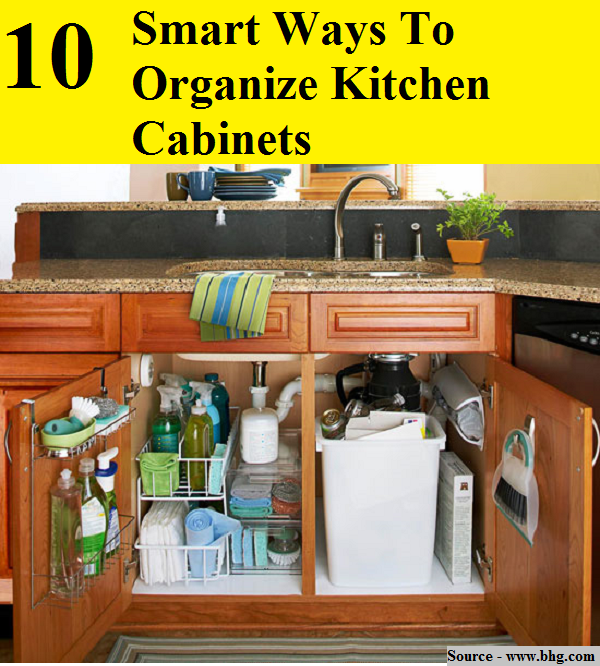 Kitchen Cabinets Organizing Ideas: 10 Smart Ways To Organize Kitchen Cabinets