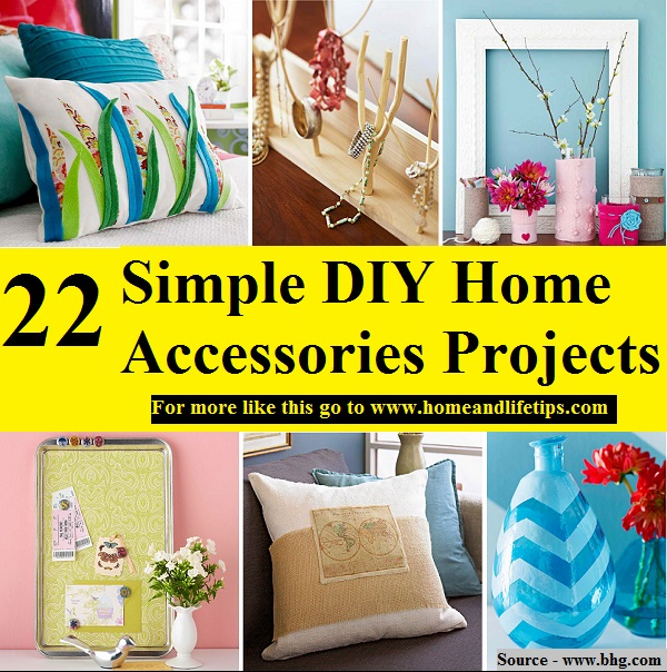 22 Simple DIY Home Accessories Projects