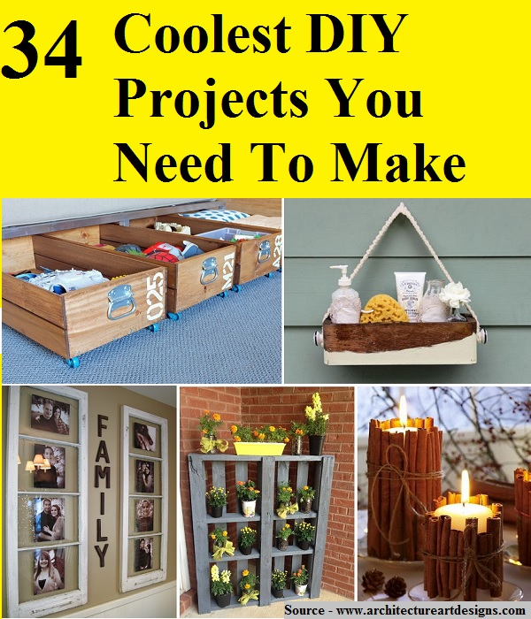 34 Coolest DIY Projects You Need To Make