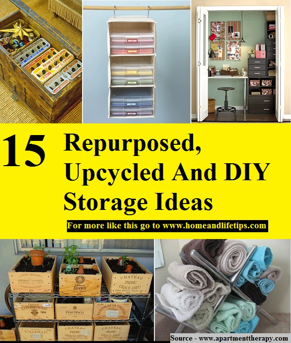 15 Repurposed, Upcycled And DIY Storage Ideas