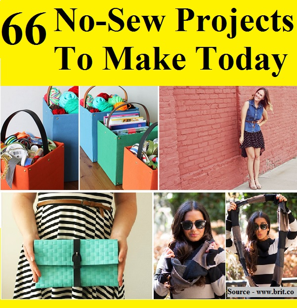 66 No-Sew Projects To Make Today
