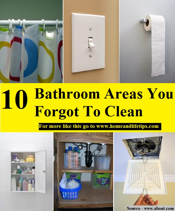 10 Bathroom Areas You Forgot To Clean