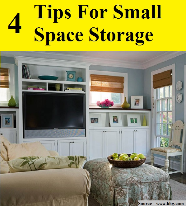 4 Tips For Small Space Storage