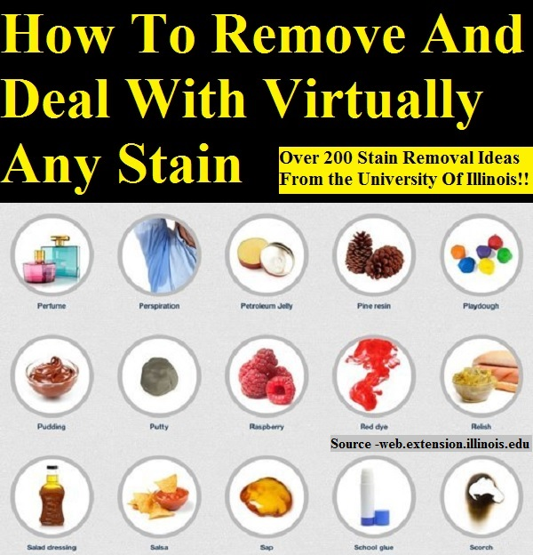 How To Remove And Deal With Virtually Any Stain