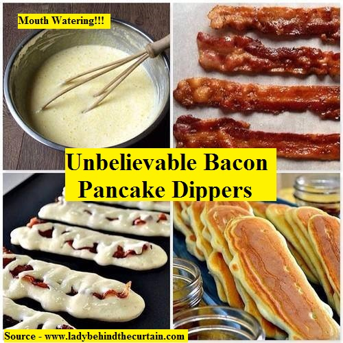 Unbelievable Bacon Pancake Dippers