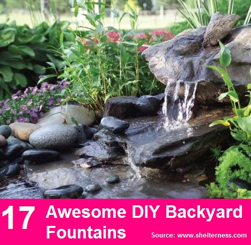 17 Awesome DIY Backyard Fountains