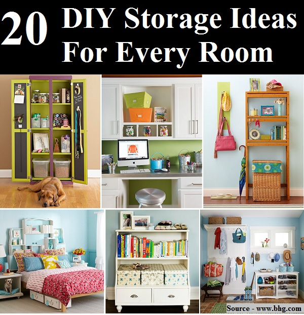 20 DIY Storage Ideas For Every Room