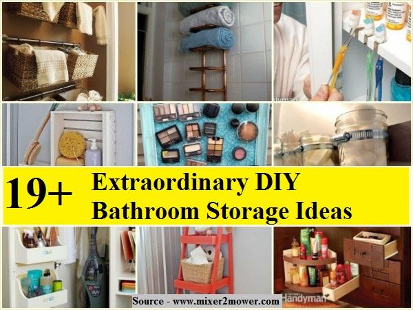 extraordinary girls bathroom organization idea   19 Extraordinary DIY Bathroom Storage Ideas - HOME and ...