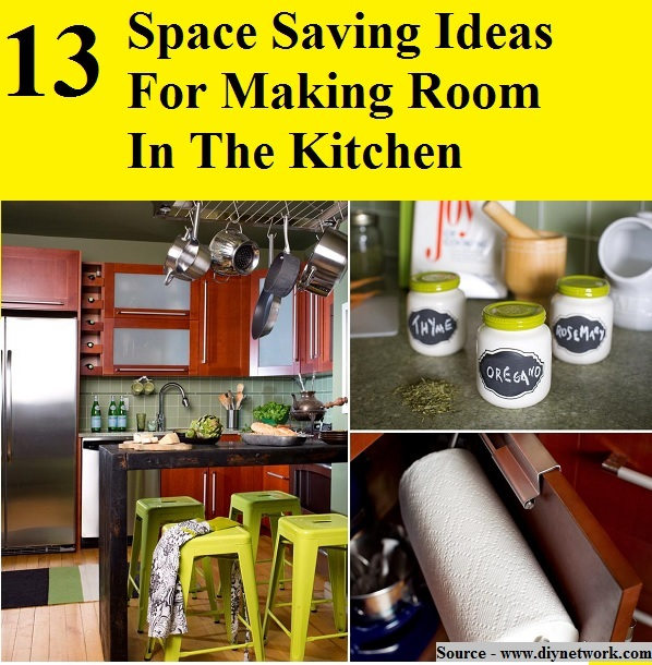 13 Space Saving Ideas for Making Room In The Kitchen
