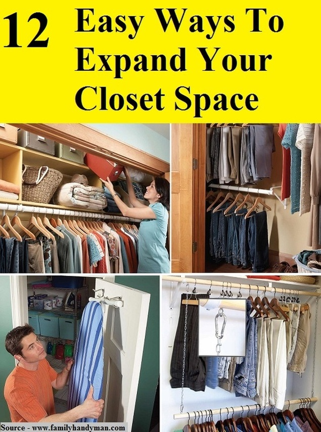 14 Easy Ways To Expand Your Closet Space