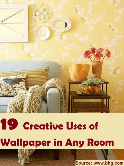 19 Creative Uses of Wallpaper in Any Room