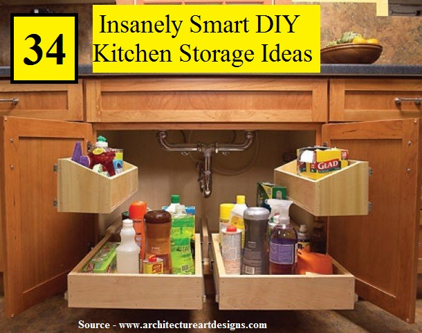 34 insanely smart diy kitchen storage ideas home and