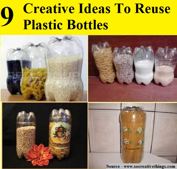 9 creative ideas to reuse plastic bottles home and life tips - Creative ideas to reuse wine bottles ...