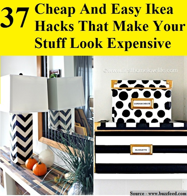 37 cheap and easy ikea hacks that make your stuff look for Cheap home stuff