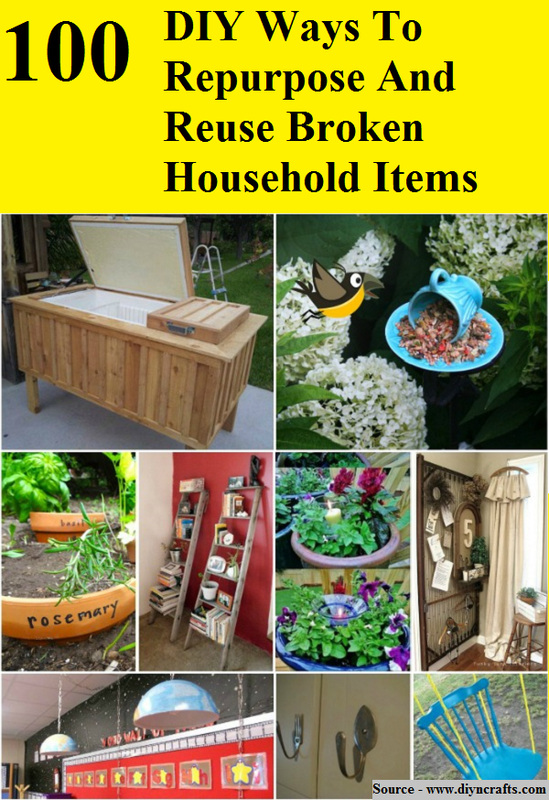 100 Diy Ways To Repurpose And Reuse Broken Household Items