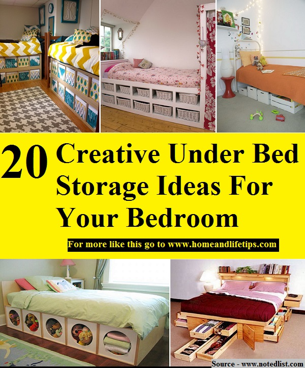 20 Creative Under Bed Storage Ideas For Your Bedroom
