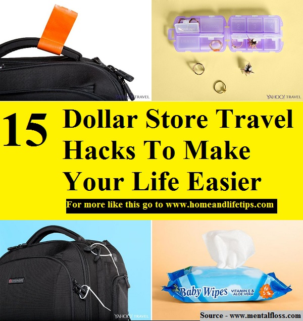 15 Dollar Store Travel Hacks To Make Your Life Easier