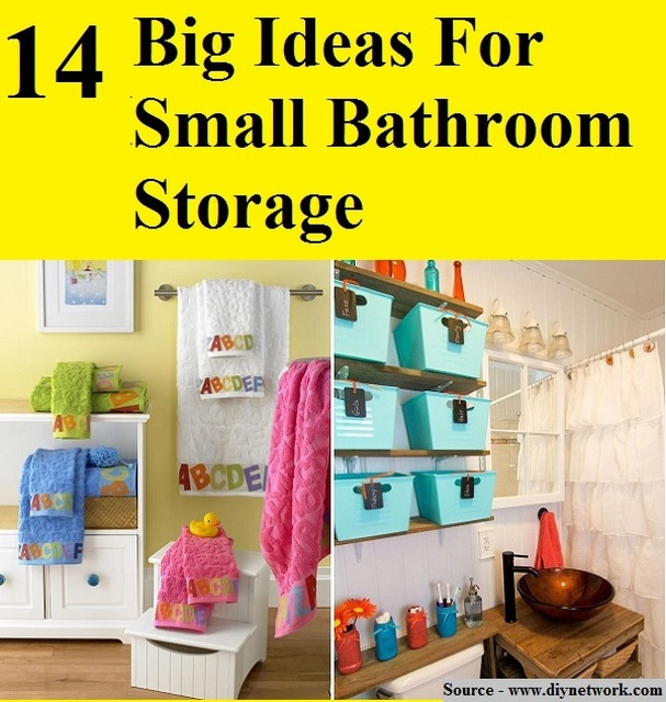 14 Big Ideas For Small Bathroom Storage