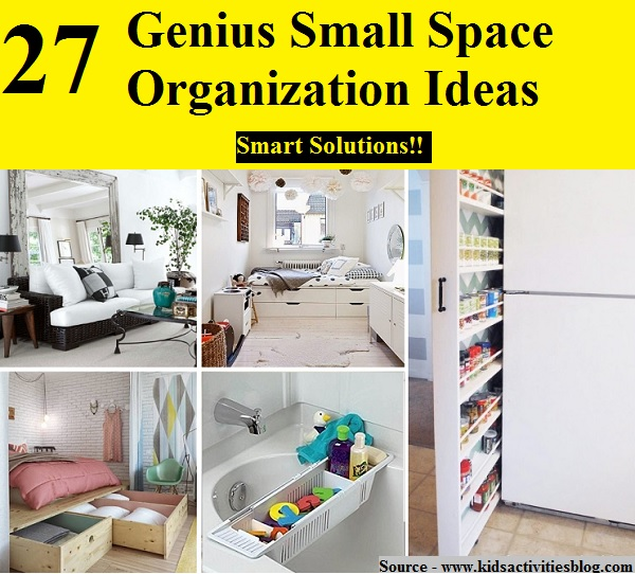 Organizing Ideas For Small Homes Part - 24: 27 Genius Small Space Organization Ideas