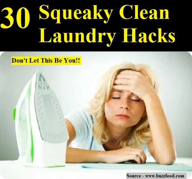 30 Squeaky Clean Laundry Hacks