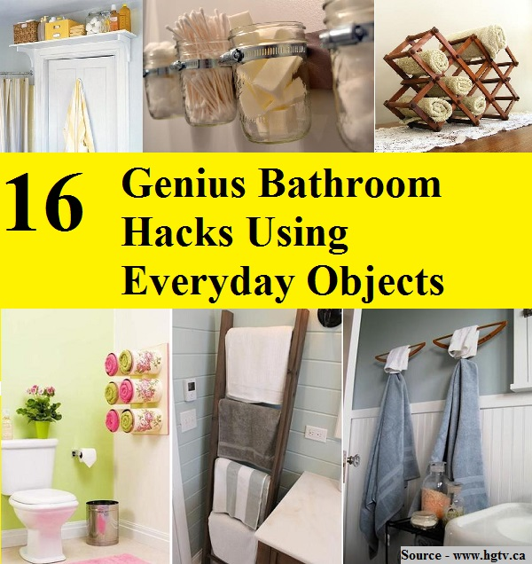 Photo Hacks With Everyday Objects Using >> 16 Genius Bathroom Hacks Using Everyday Objects Home And Life Tips