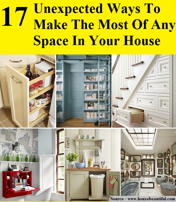 17 unexpected ways to make the most of any space in your house home and life tips - Ways of creating more storage space in your home ...