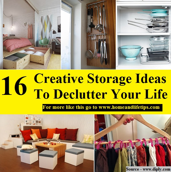 16 Creative Storage Ideas To Declutter Your Life