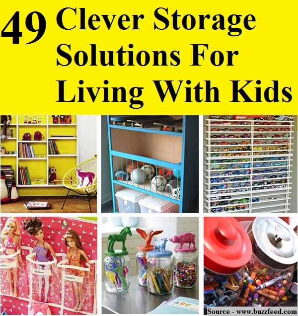 49 clever storage solutions for living with kids home and life tips